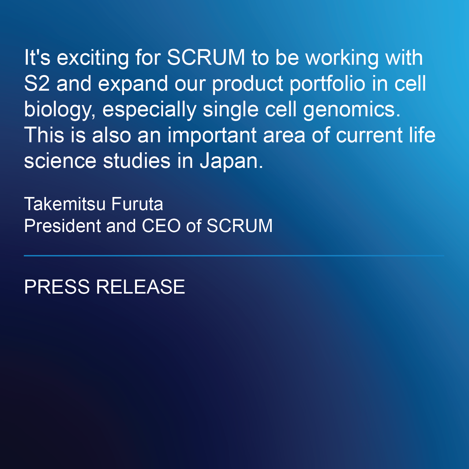 S2 Genomics Announces Asia-Pacific Distribution Partnerships For the Singulator™ 100 System with SCRUM, PharmiGene, LnCBio, Thunderbio Science And TrendBio To Accelerate Single-Cell Research