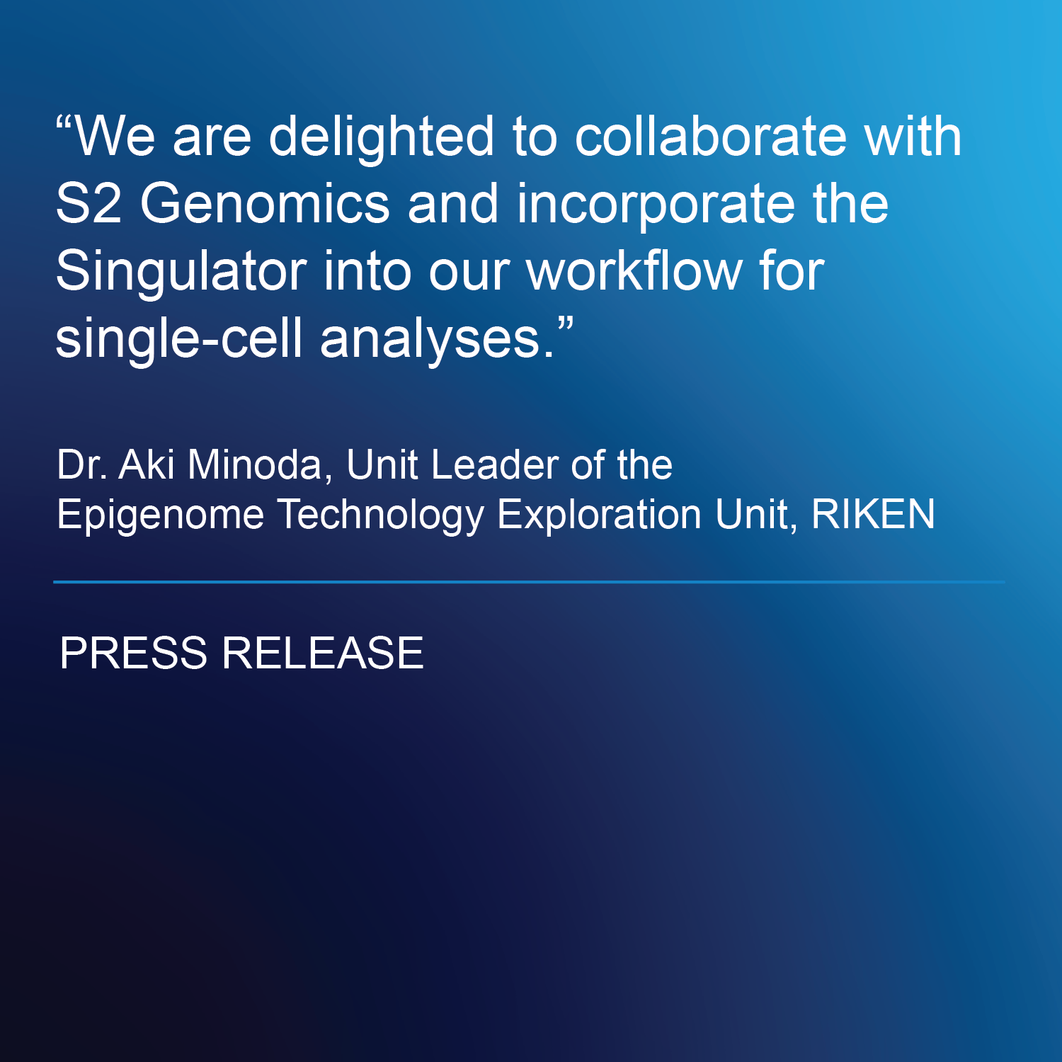 S2 Genomics and the RIKEN Center for Integrative Medical Sciences Collaborate on Single-Cell Genomics on Solid Tissues