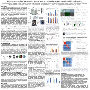 AGBT Precision Health 2019 Poster Download Development of an automated system to process solid tissues into single cells and nuclei - s2 genomics tissue preparation automation singular